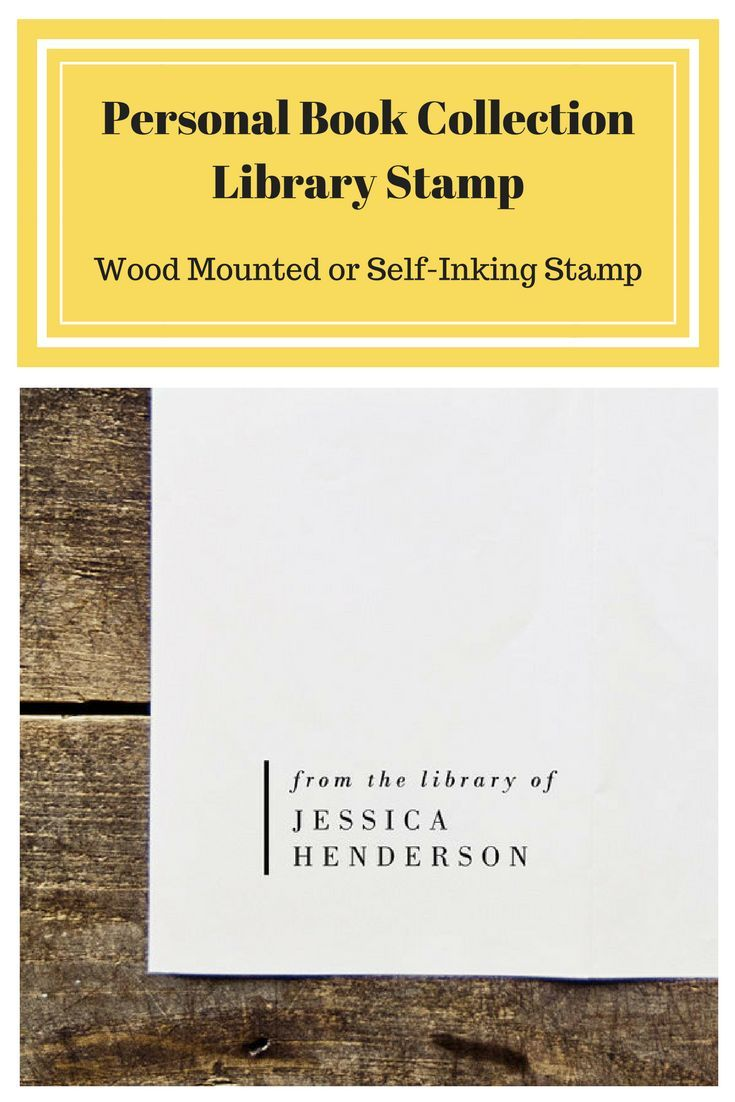 Personal book collection library stamp this is a great gift for personal book collection library stamp this is a great gift for book lovers or even yourself great way to make sure your books find themselves solutioingenieria Gallery
