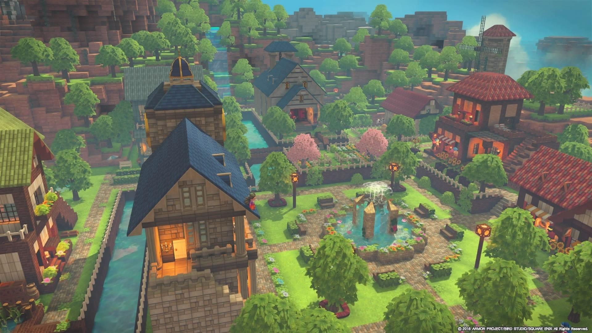 ビルダーズギャラリー ドラゴンクエストビルダーズ2 Square Enix マインクラフトの家 風景 マインクラフト