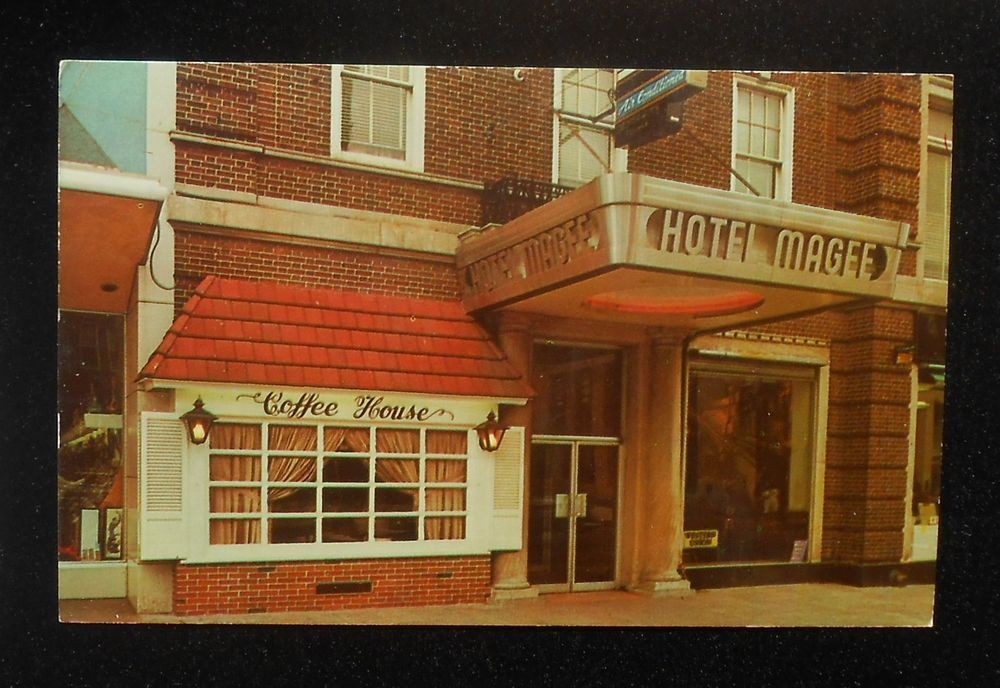 1960s Entrance Hotel Magee Coffee House Bloomsburg Pa Columbia Co Postcard