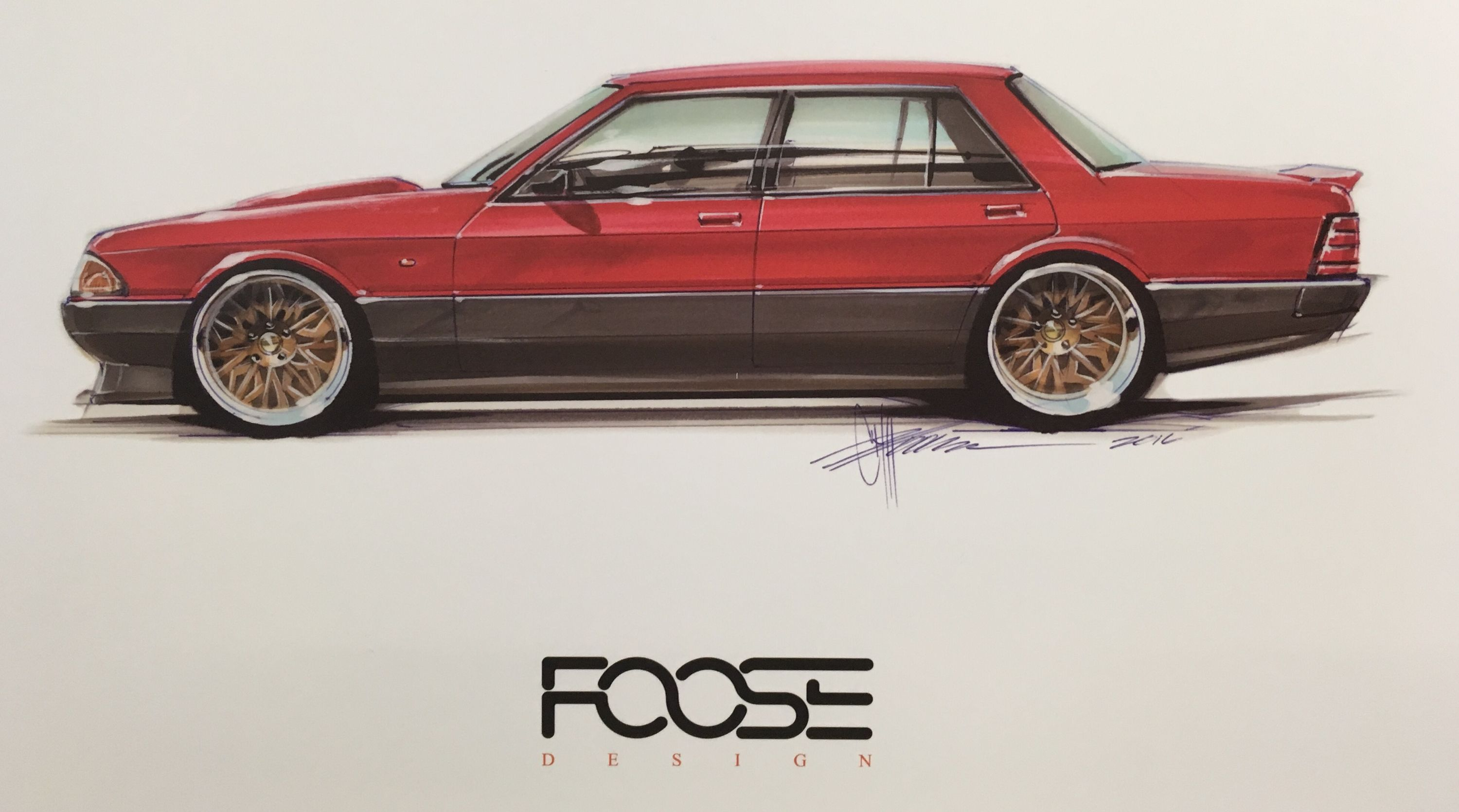 Ford Xd Falcon Drawn By Foose Chip Foose Foose Australian Muscle Cars