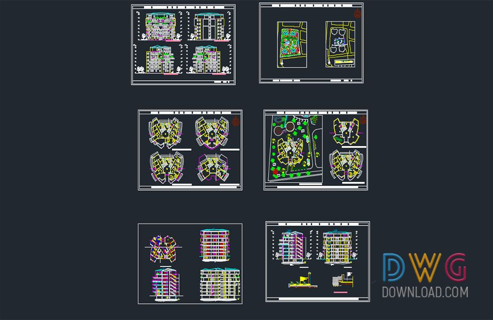 Multi Storey Apartment Architectural Project Design And About Cad Projects Detail Dwg