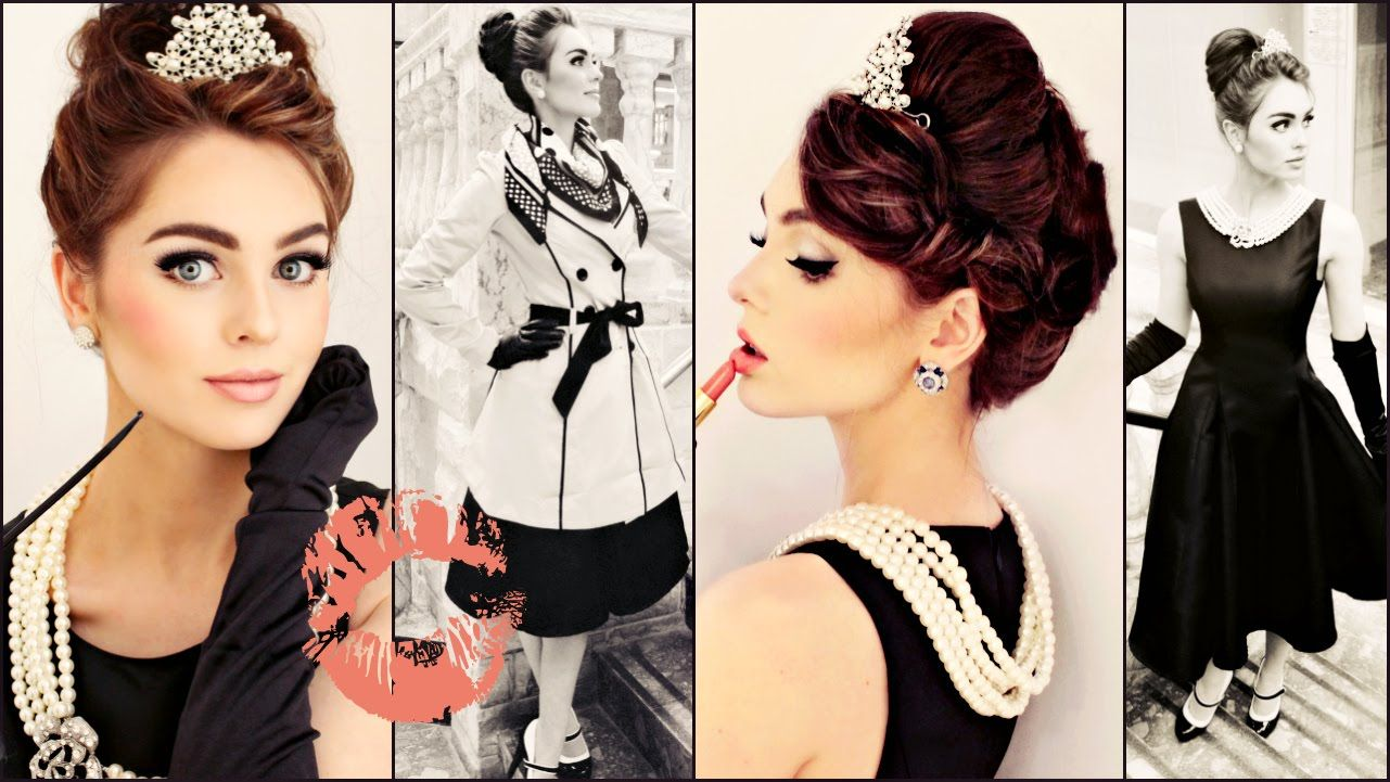 Breakfast at tiffanys makeup hair style tutorial jackie hey hey im excited to show you my audrey hepburn as holly golightly makeup updo costume from the iconic breakfast at tiffanys film baditri Gallery