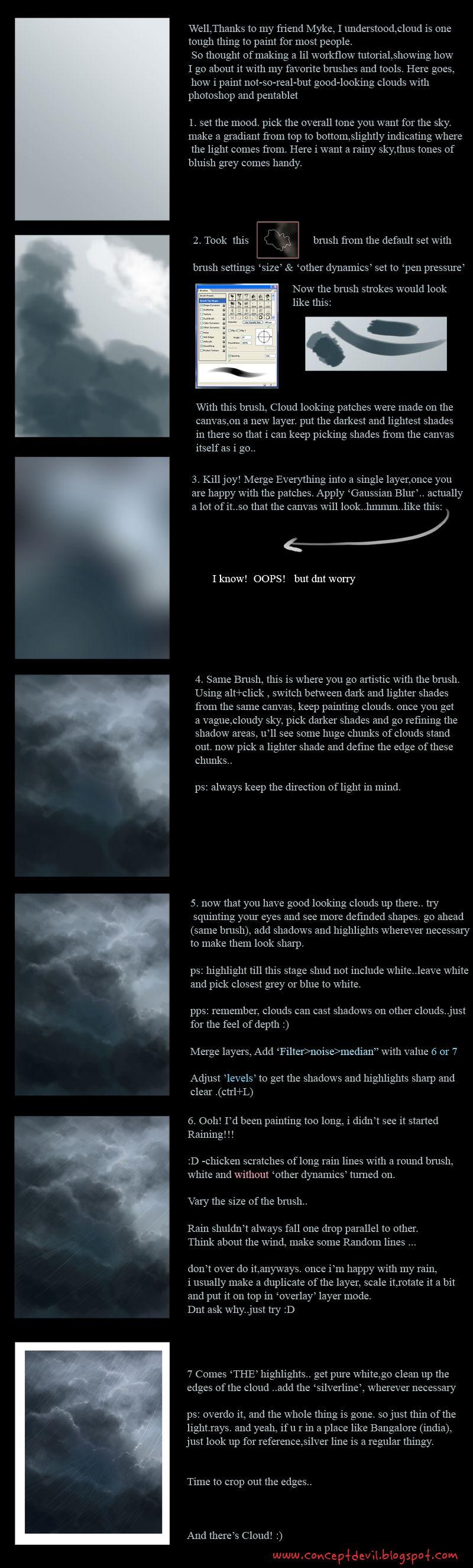 Another cloud tutorial by mirchiz.deviantart.com