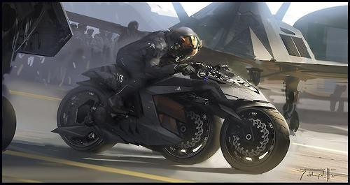 GI Joe bike by Cenay Oekmenhttp://syfycity.tumblr.com