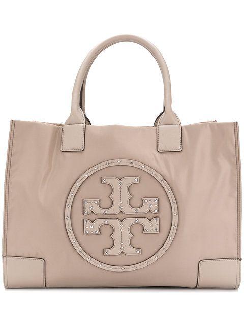 aa6ee1abf22 TORY BURCH Ella stud logo tote. #toryburch #bags #leather #hand bags #nylon  #tote #