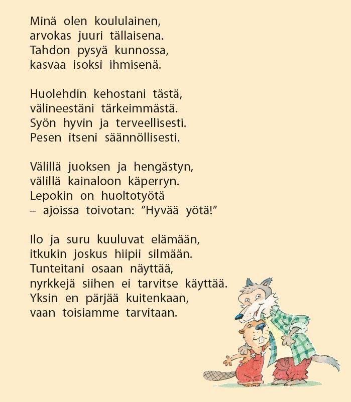 Alakoululaisen runo (Pisara 1).