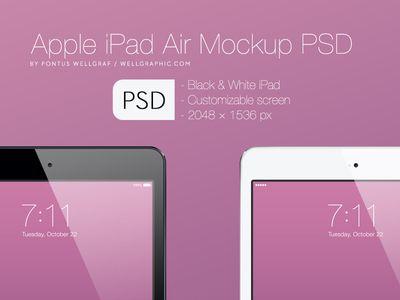 Apple Ipad Air Mockup Psd Apple Ipad Air Mockup App Design