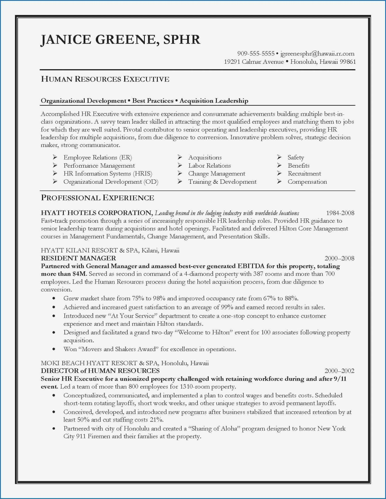 Best Project Manager Resume Best Of Sample Project Manager Resume Professional Best Project Human Resources Resume Resume Objective Examples Resume Examples