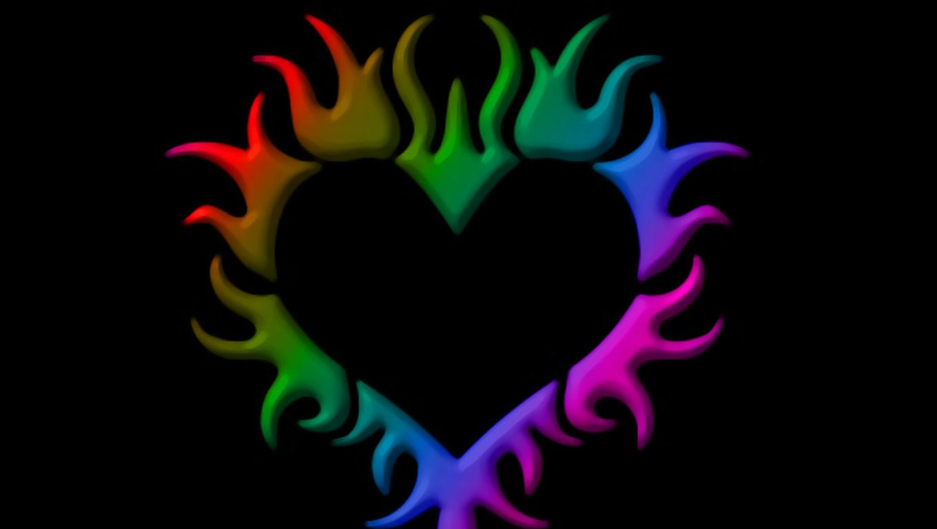 Viewing Gallery For - Rainbow Love Hearts Backgrounds ...