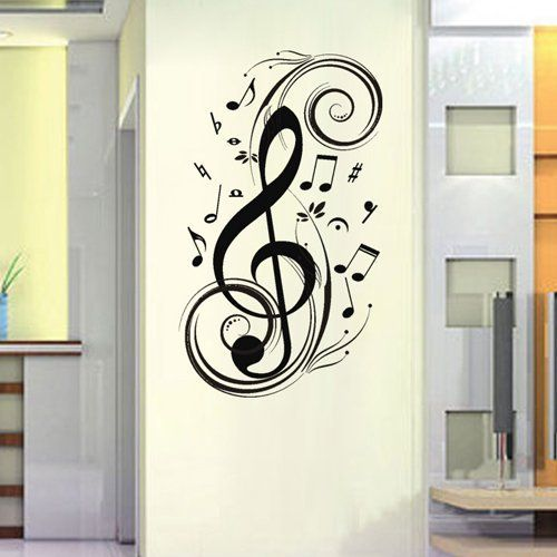 23 6 X 47 2 Large Music Notes Wall Decals Wall Art Decor Removable