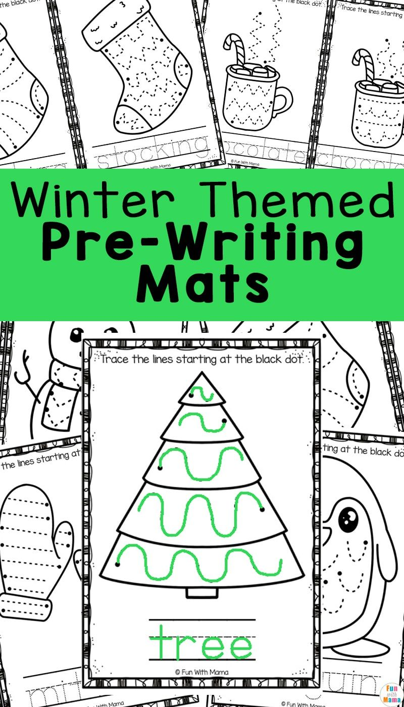 Winter Pre Writing Worksheets Mats Writing Worksheets Prewriting Worksheets Pre Writing [ 1400 x 800 Pixel ]