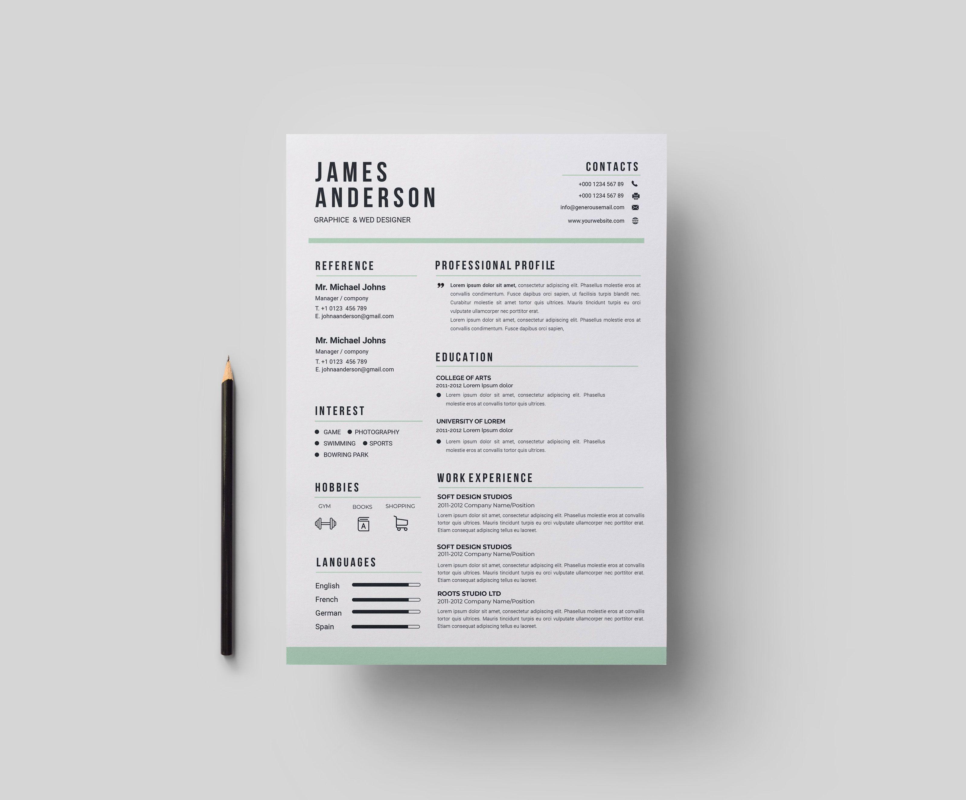 Contemporary Print Resume Templates Graphic Templates Resume Design Template Resume Design Template Free Resume Templates