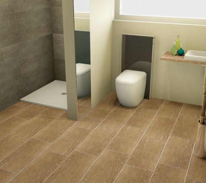 Fliesen in Holzoptik - Badezimmer wohnlich gestalten Doors and Walls