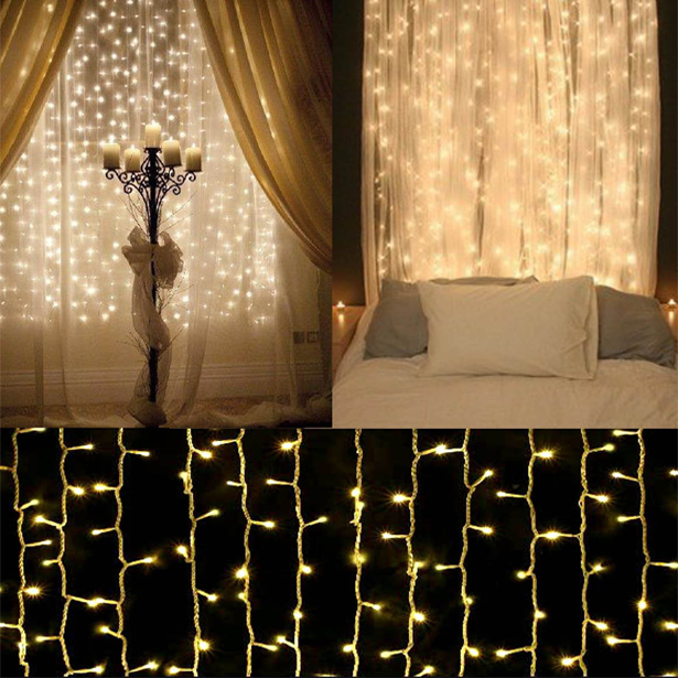 Cheap String Lights Prepossessing 10Ft300Led Warm White String Curtain Lights  String Curtains