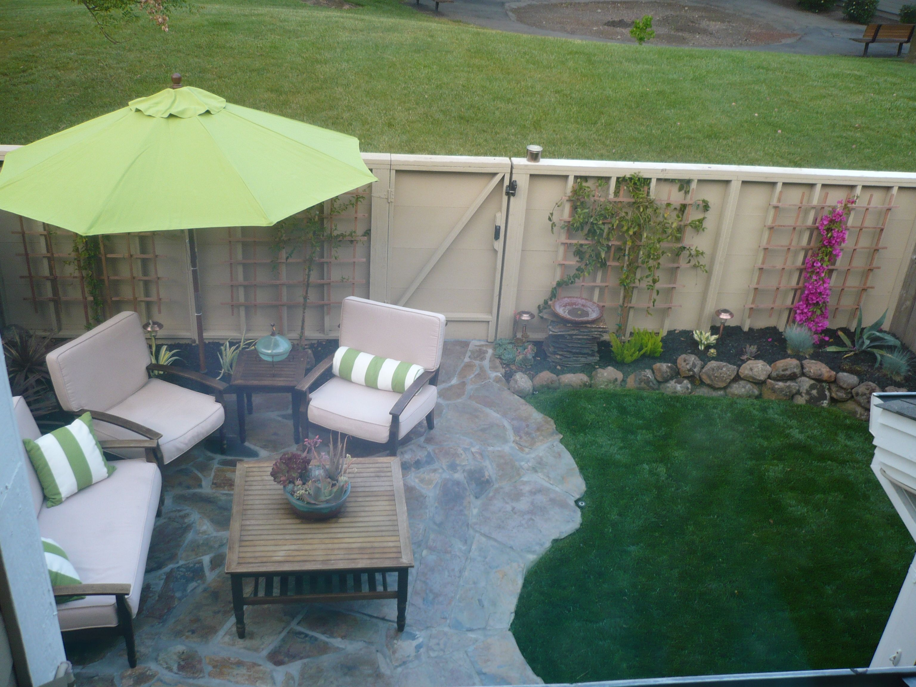 After Our townhouse backyard after. | Patio ideas ... on Townhouse Patio Design Ideas id=70977