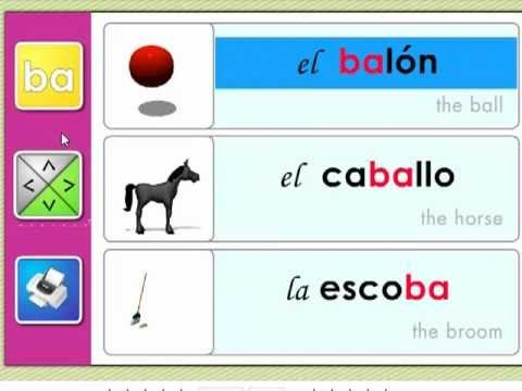 Las Silabas Ba Be Bi Bo Bu Syllables Silabas Matematicas