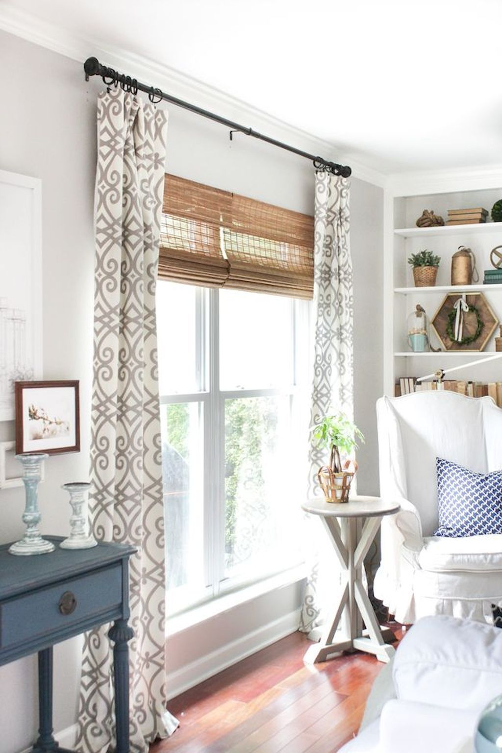 Window Treatment Ideas Whether You Re Seeking Curtains Tones Or Something Bet Bamboo Shades Living Room Window Treatments Living Room Farm House Living Room