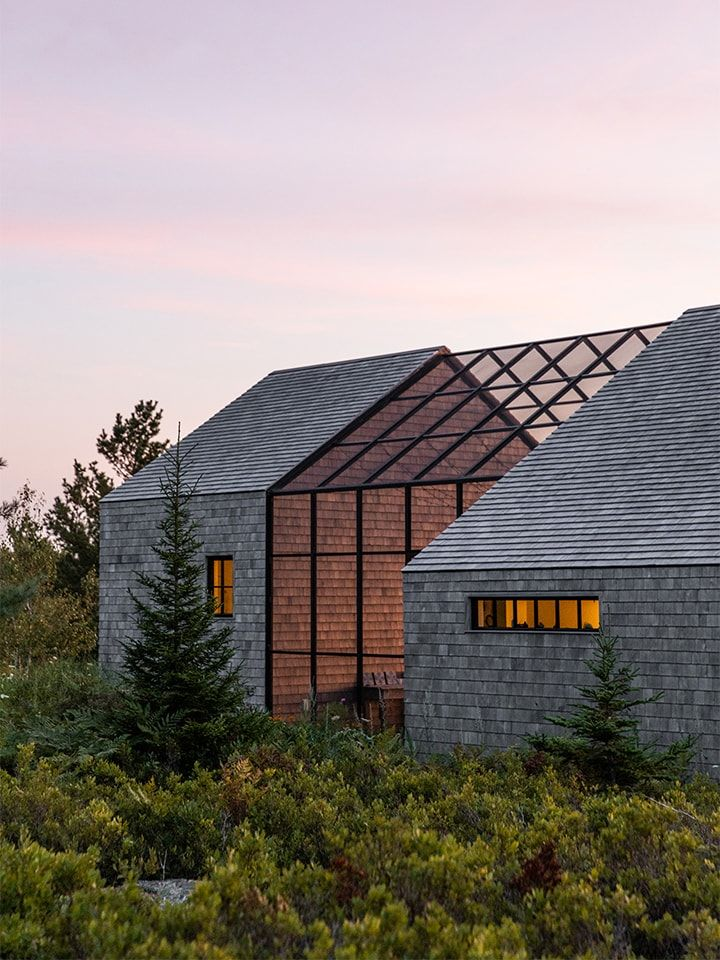 Photo of This Maine Home by Berman Horn Studio Features the Screen Porch of Our Dreams