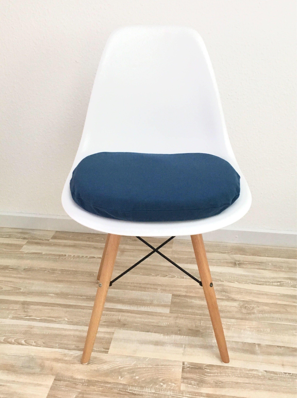 Blaues Stuhlkissen Für Eames Chair DSW, DSX, DAX Und Mehr Mit  Reißverschluss Von CreativebeaDE