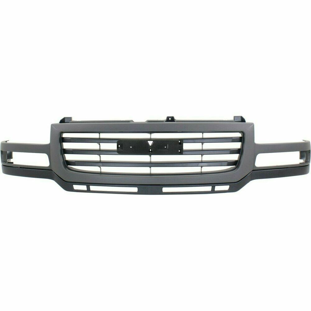 Details About New Grille Painted Black Front For Gmc Sierra 2500