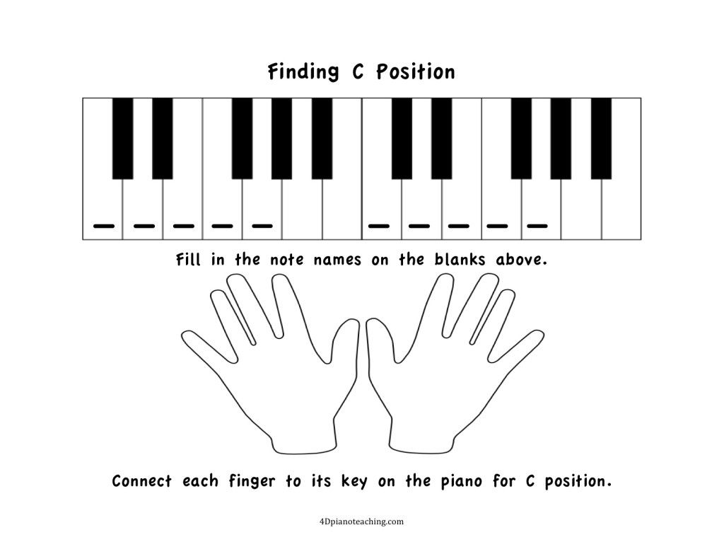 Free Printables C Position Worksheets 4dpianoteaching Com Piano Worksheets Worksheets For Kids Free Music Theory Worksheets