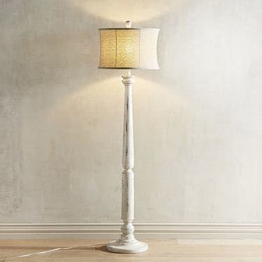 Pier 1 Floor Lamps Amusing Nicolas Whitewashed Floor Lamp  Floor Lamp Drum Shade And Reading Review