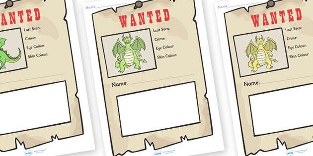 Dragon wanted poster writing frames dragon wanted poster writing dragon wanted poster writing frames spiritdancerdesigns Choice Image