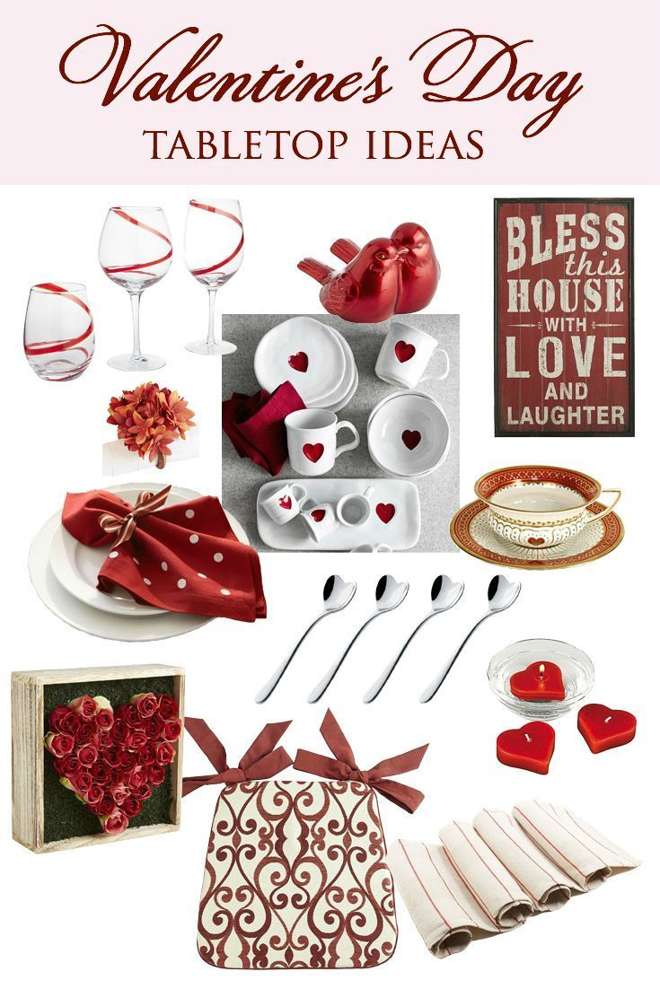 Valentine\'s Day Decor: 18 Tabletop Shopping Ideas | Tabletop, DIY ...