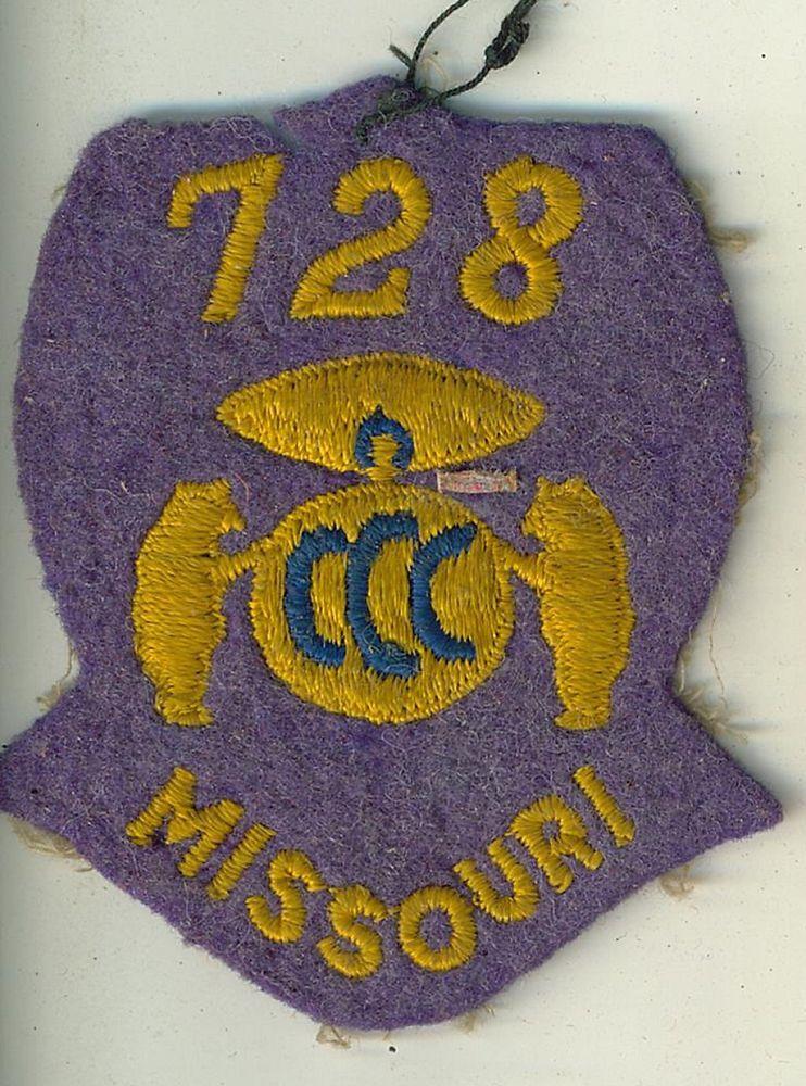 CCC Civilian Conservation Corps Souvenir Patch