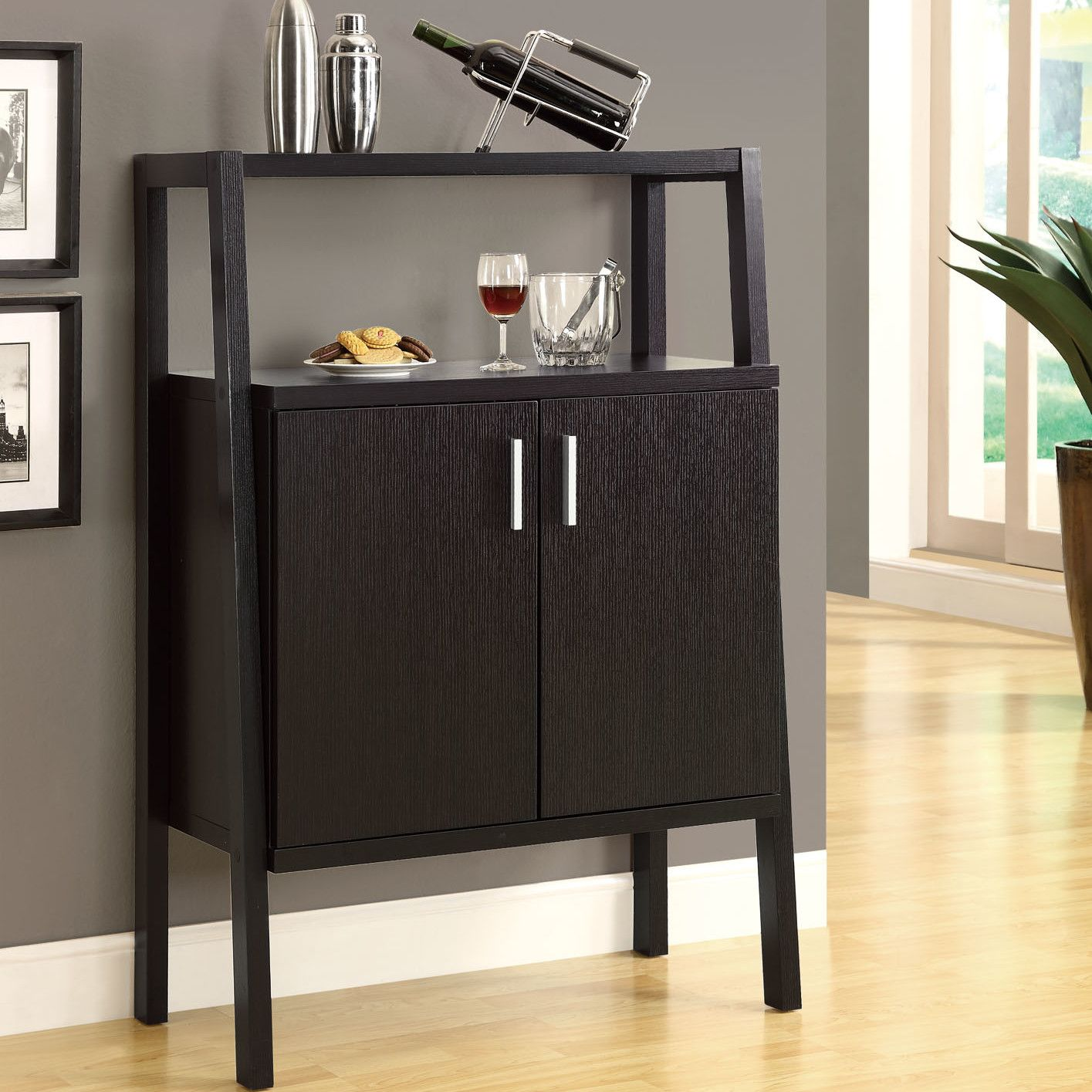 Bon Monarch Specialties Inc. Bar Cabinet With Wine Storage