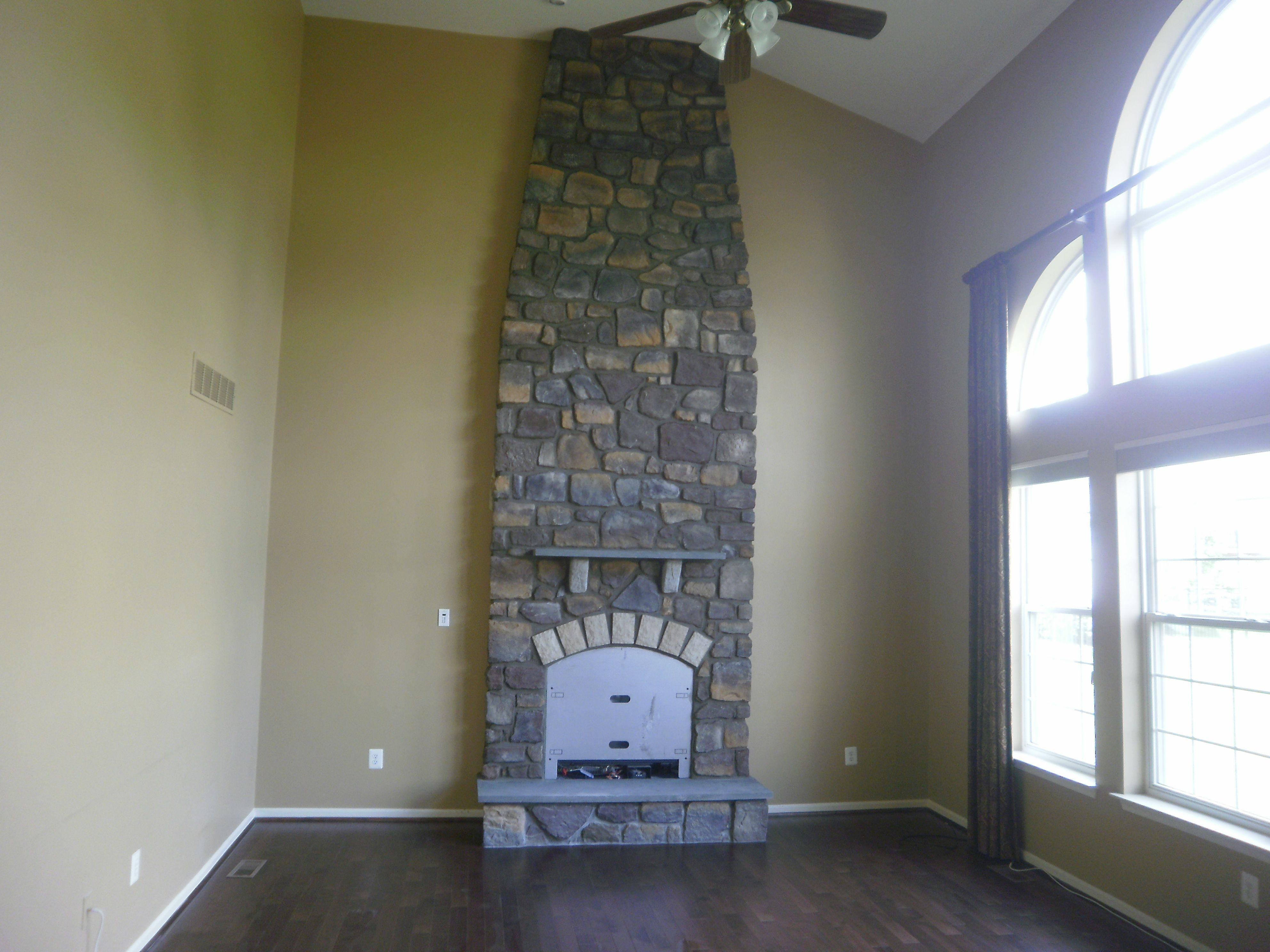 fireplace tapered plygem stone mason fireplaces pinterest