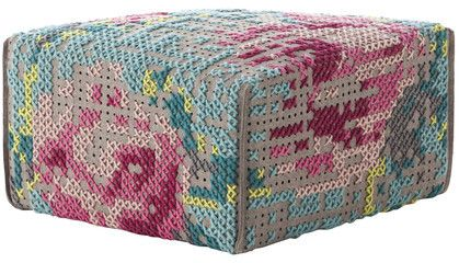 Gandia Blasco Canevas Spaces Square Flowers Pouf By on shopstyle.com/$1,310-
