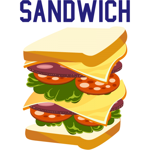 Sandwich サンドウィッチ朝食カラフルフードアメカジ