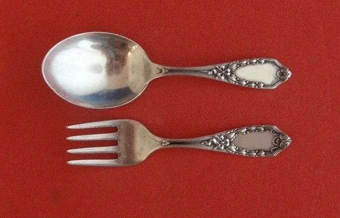 King Richard by Towle Sterling Silver Salad Serving Set 2pc HHWS  Custom Made