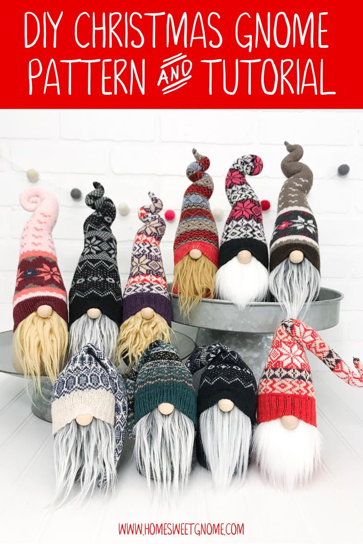 DIY Gnome Pattern & Photo Tutorial #christmasgnomes