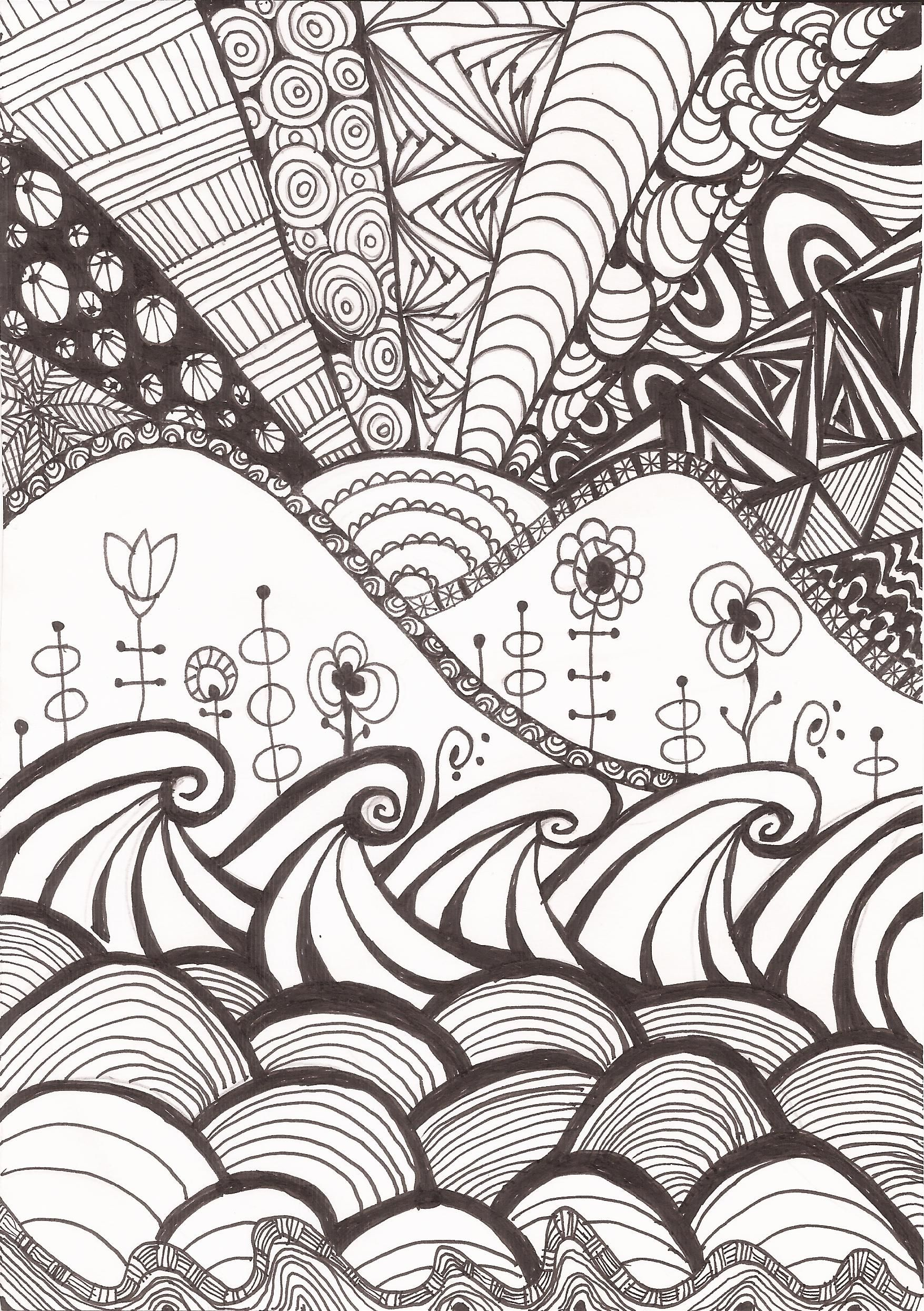 Zen doodle colour - Doodle Art Bynina Feel Free For Colour And Share