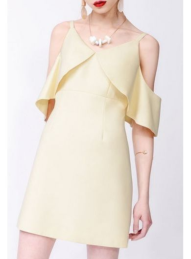 83d3eadaaf5f VOLER Off-Shoulder V-Collar Dress  shopjessicabuurman.com