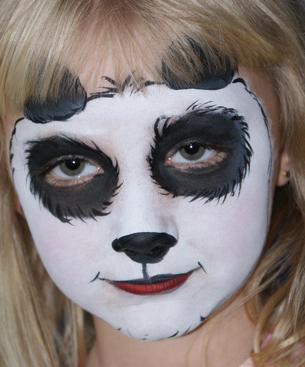 Panda Facepainting Kco Face Painting Pinta Caras Niños