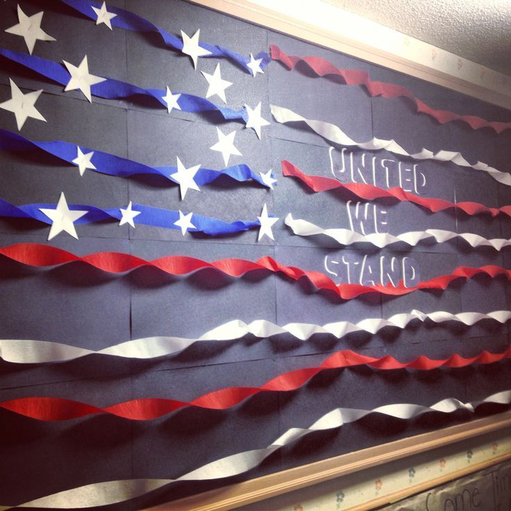 American flag bulletin board. Responsible (or other core virtue) we ...