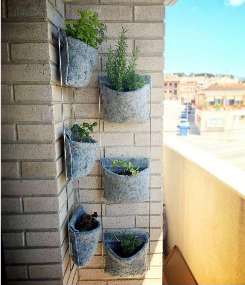 Huerto vertical vertiflor de fieltro reciclado reciclaje for Jardin vertical reciclado