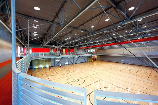 Indoor Track And Basketball Courts Inside The R A W Center At Csueb Indoor Basketball Court Center Basketball Ucla Basketball