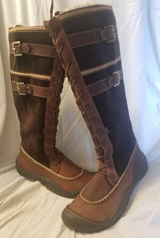 aaecdafa06c Jambu 7.5 M knee boot Cecilia winter boots brown suede leather flat heel   Jambu  KneeHighBoots SOLD