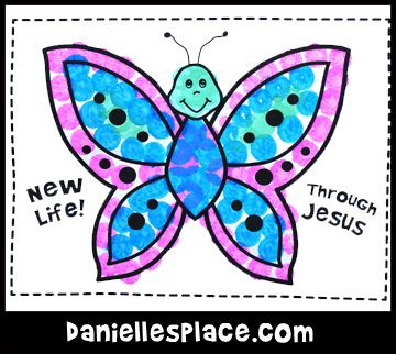 New Life Butterfly Craft Kids Can Make From Www Daniellesplace Com