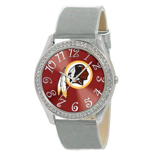 Washington Redskins Ladies Stainless Steel Analog Glitz Watch