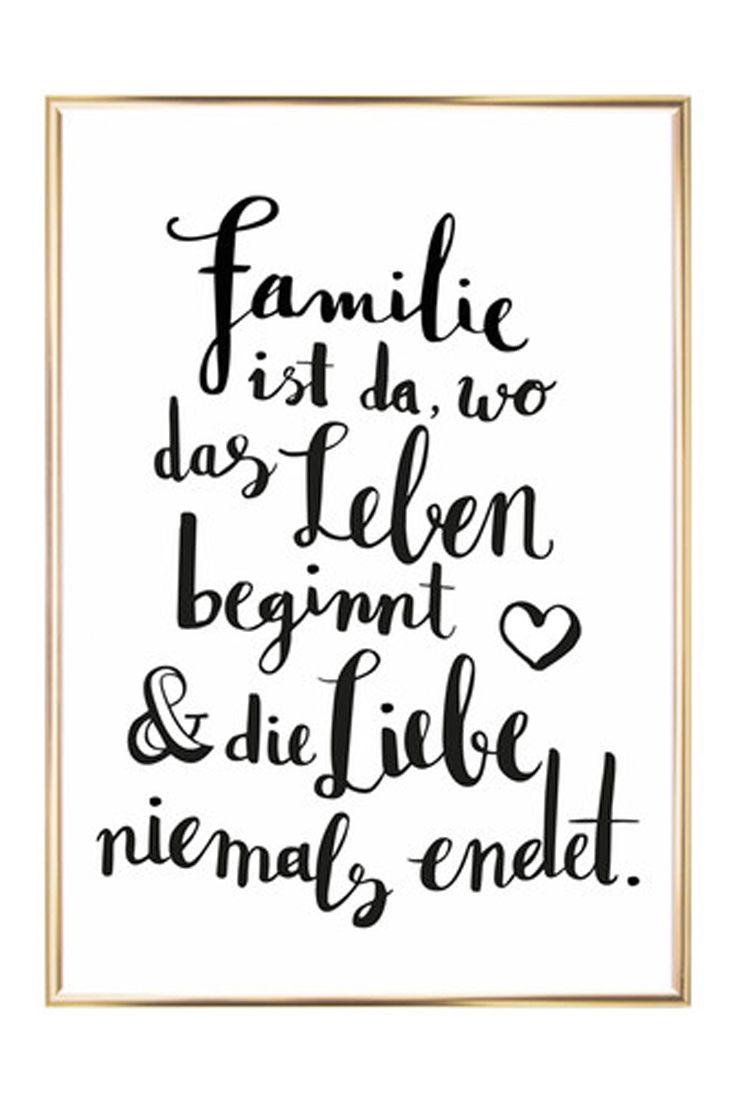 Gerahmter Digitaldruck Familie | Pinterest