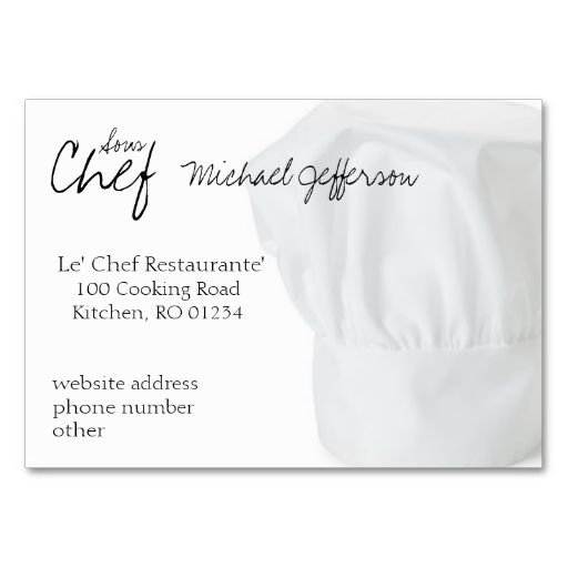 Chef hat business cards this is a fully customizable business card chef hat business cards pack of chubby business cards make your own business card with this great design reheart Gallery
