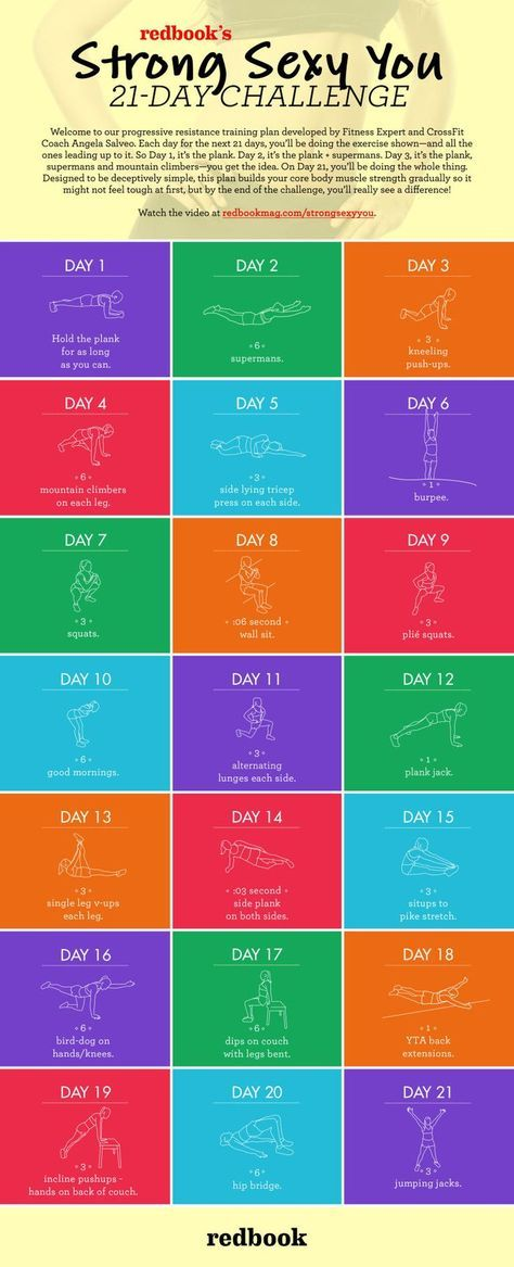 The Very Best 21-Day Fitness Challenge We've Seen So Far #fitnesschallenges
