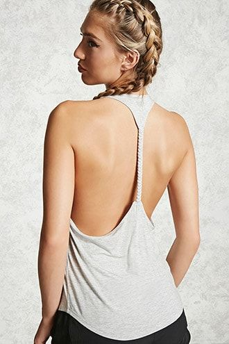 49e43ac6377e0 Forever 21 Active Braided T-Back Tank Top Health Fitness Nutrition  Activewear Ootd Gym Wear Gym Clothing Gym Gear Tops Workout
