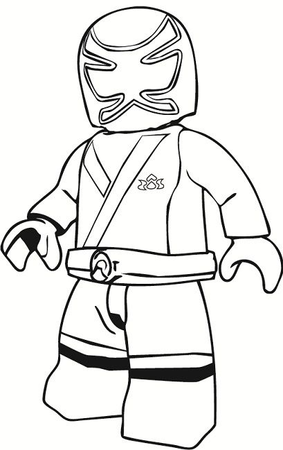 Lego Samurai Power Ranger Minifigure Coloring Page For
