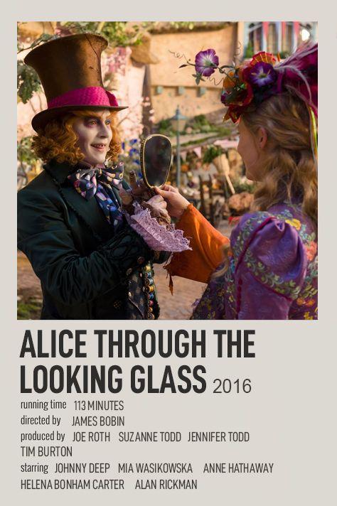 ALICE THROUGH THE LOOKING GLASS POLAROID MOVIE POSTER